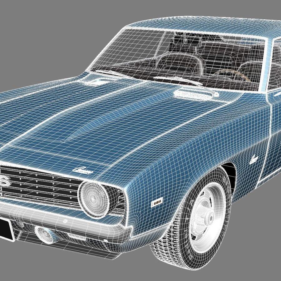 雪佛兰Camaro SS 1969 royalty-free 3d model - Preview no. 19