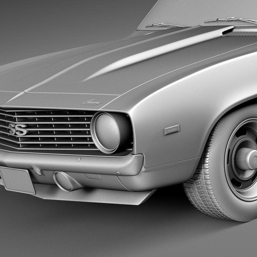 雪佛兰Camaro SS 1969 royalty-free 3d model - Preview no. 13