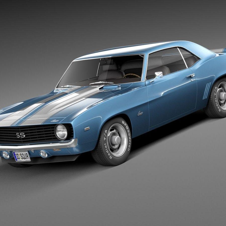 雪佛兰Camaro SS 1969 royalty-free 3d model - Preview no. 1