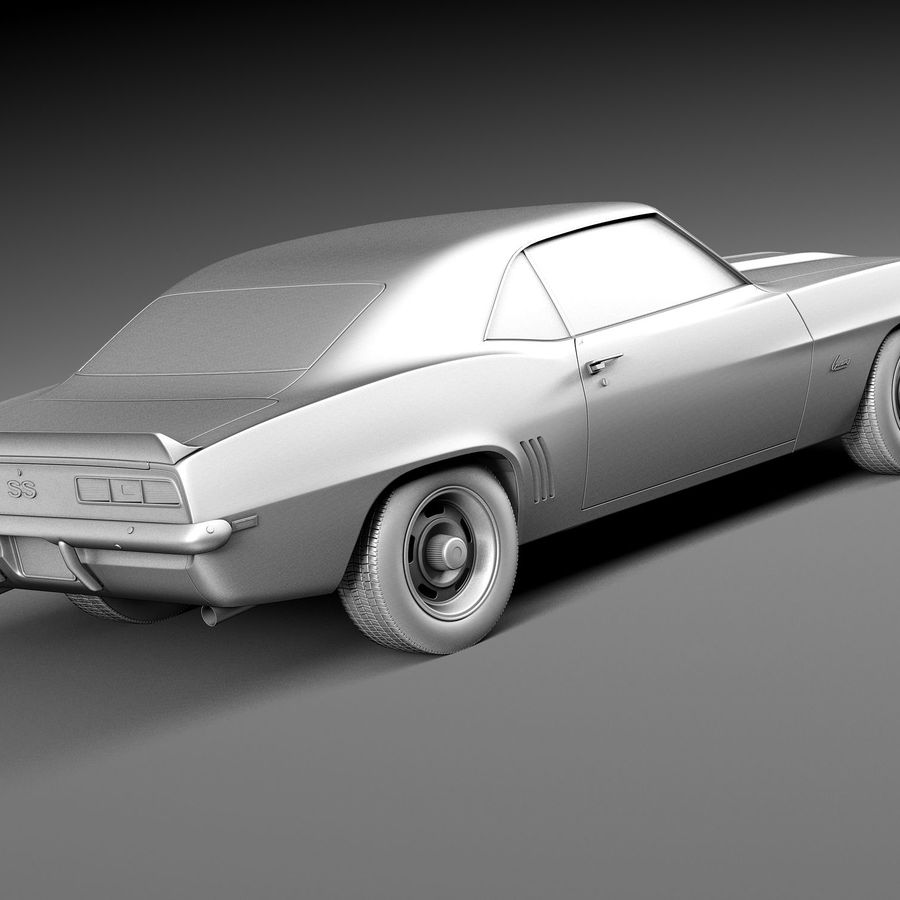 雪佛兰Camaro SS 1969 royalty-free 3d model - Preview no. 15