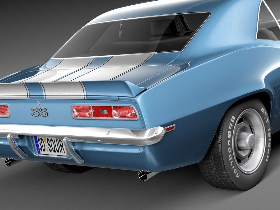 雪佛兰Camaro SS 1969 royalty-free 3d model - Preview no. 4