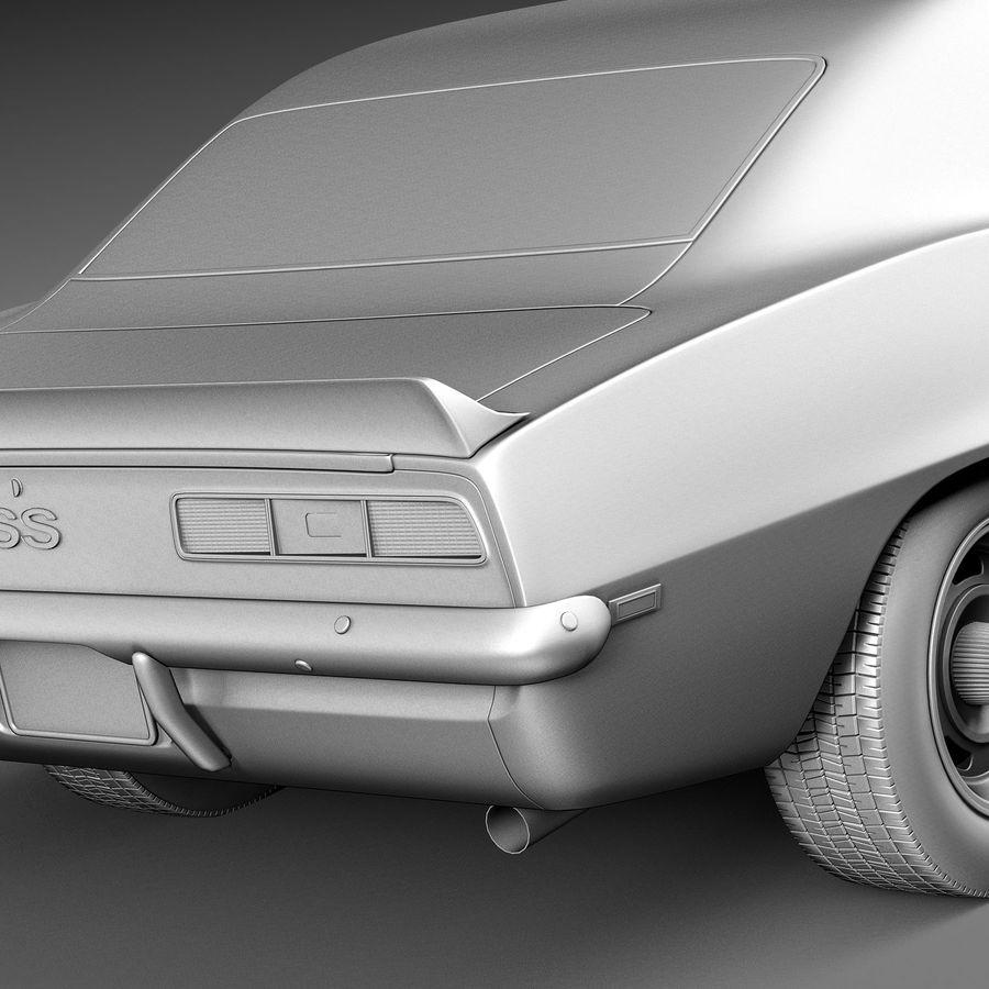 雪佛兰Camaro SS 1969 royalty-free 3d model - Preview no. 14