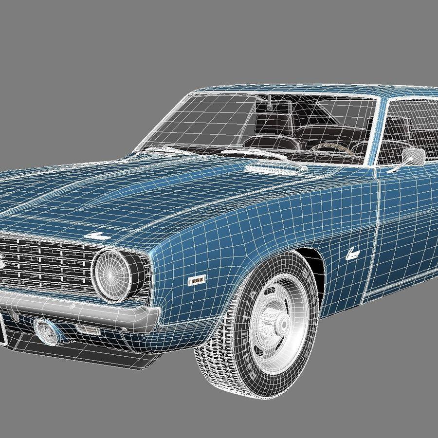 雪佛兰Camaro SS 1969 royalty-free 3d model - Preview no. 16