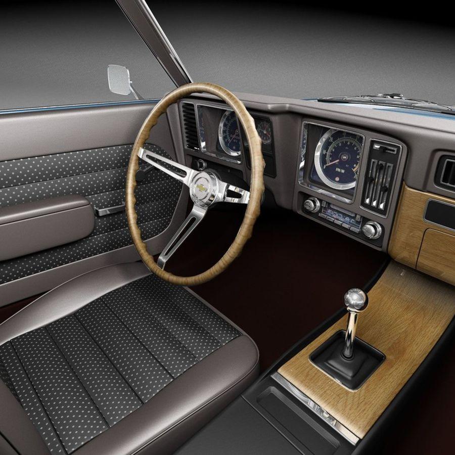 雪佛兰Camaro SS 1969 royalty-free 3d model - Preview no. 10