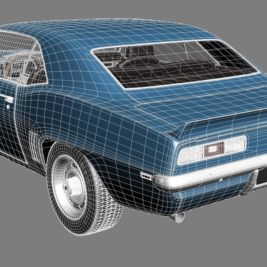 雪佛兰Camaro SS 1969 royalty-free 3d model - Preview no. 17