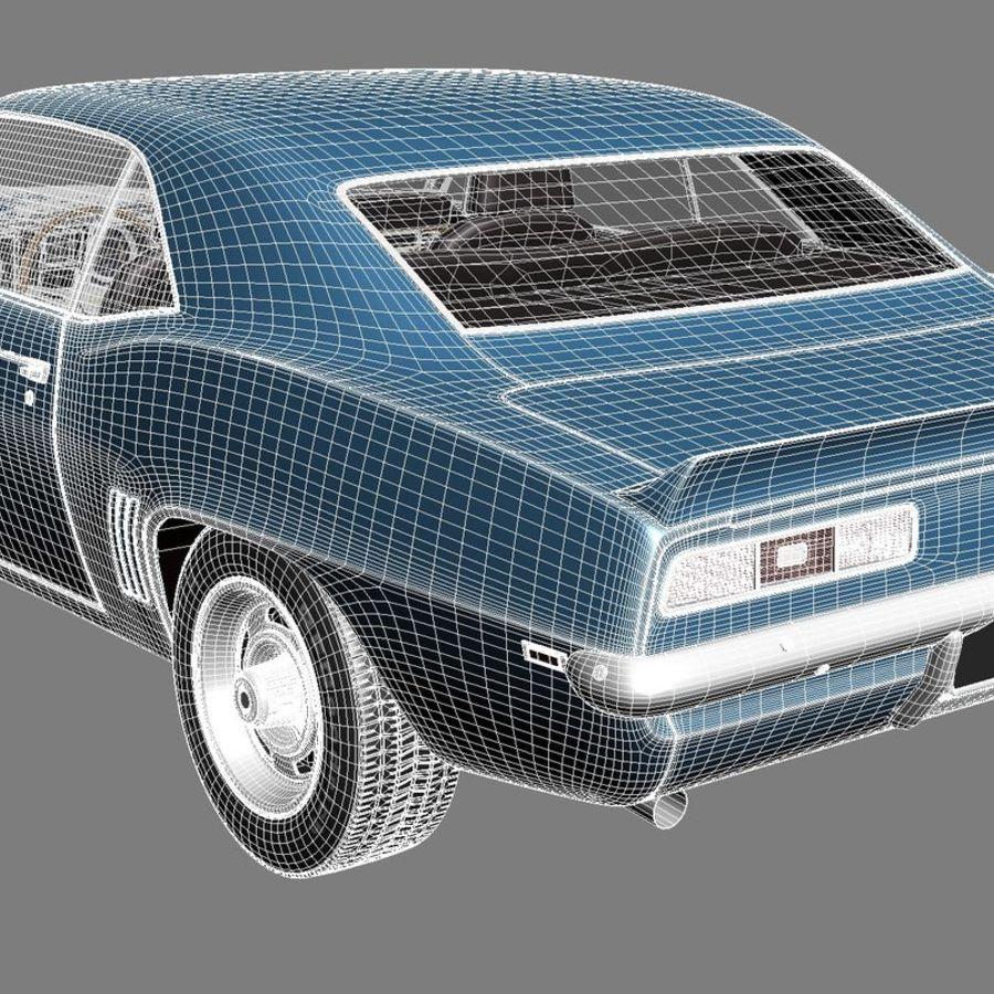雪佛兰Camaro SS 1969 royalty-free 3d model - Preview no. 18