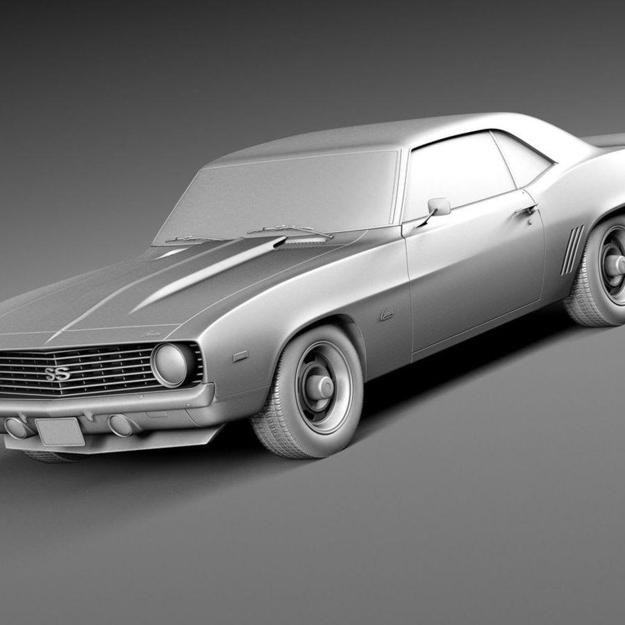 雪佛兰Camaro SS 1969 royalty-free 3d model - Preview no. 12