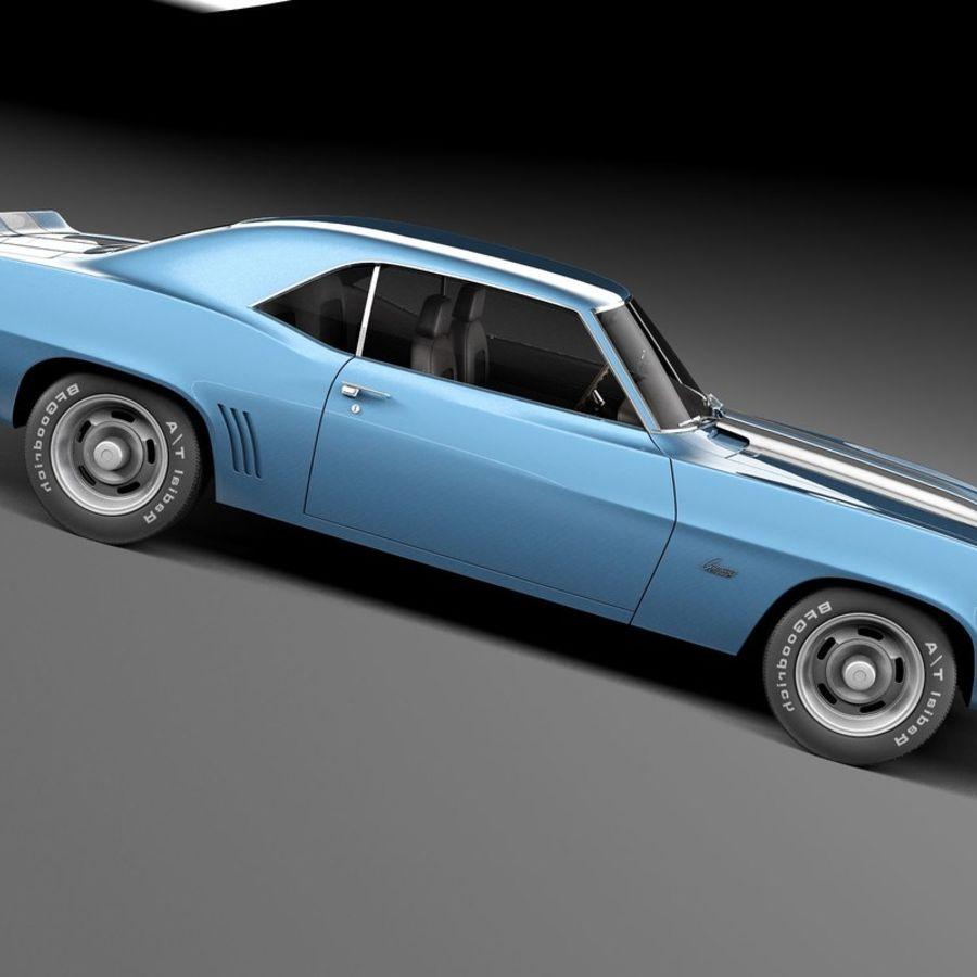 雪佛兰Camaro SS 1969 royalty-free 3d model - Preview no. 7