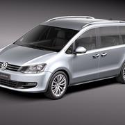 Volkswagen Sharan 2010-2012 3d model
