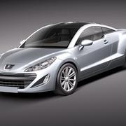 Peugeot RCZ 2011 lowpoly 3d model