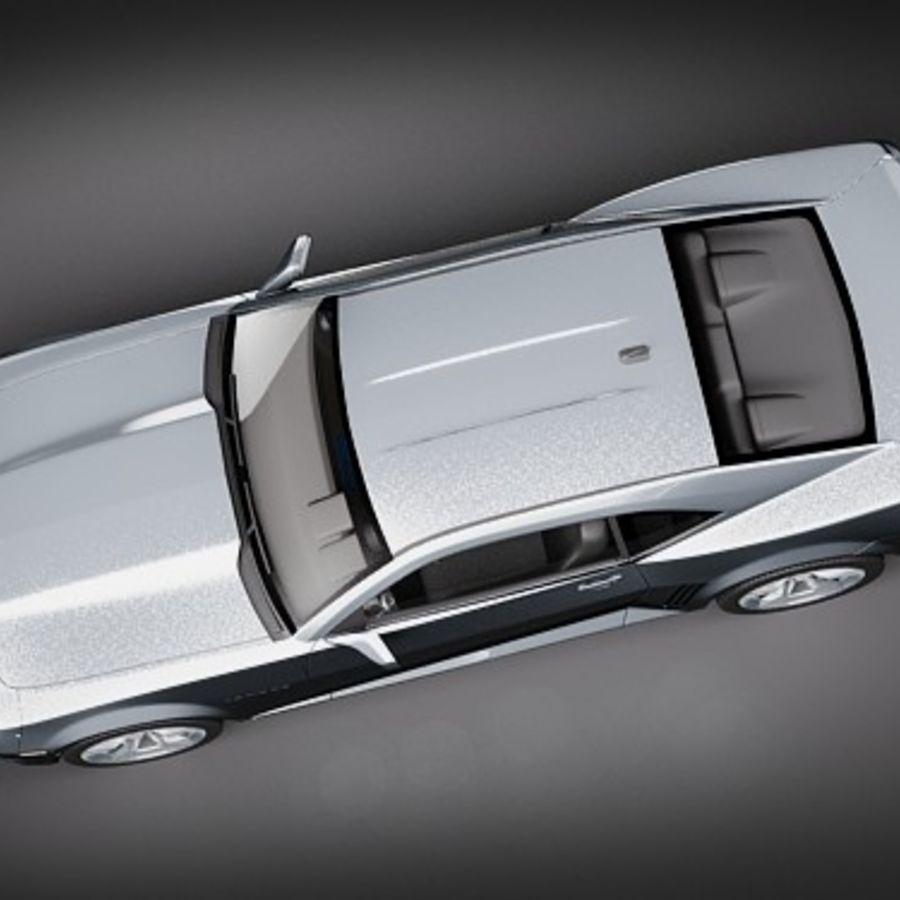 雪佛兰Camaro SS 2010 royalty-free 3d model - Preview no. 8