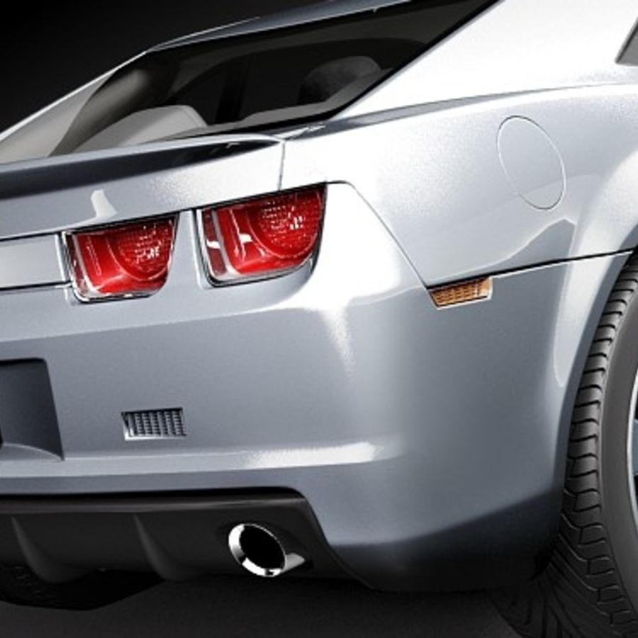 雪佛兰Camaro SS 2010 royalty-free 3d model - Preview no. 4