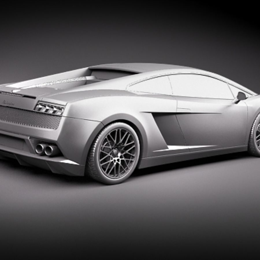Lamborghini Gallardo LP560-4 royalty-free 3d model - Preview no. 9