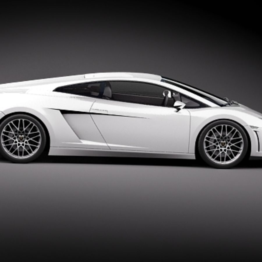 Lamborghini Gallardo LP560-4 royalty-free 3d model - Preview no. 7