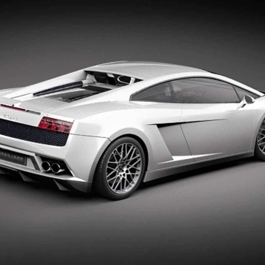 Lamborghini Gallardo LP560-4 royalty-free 3d model - Preview no. 6