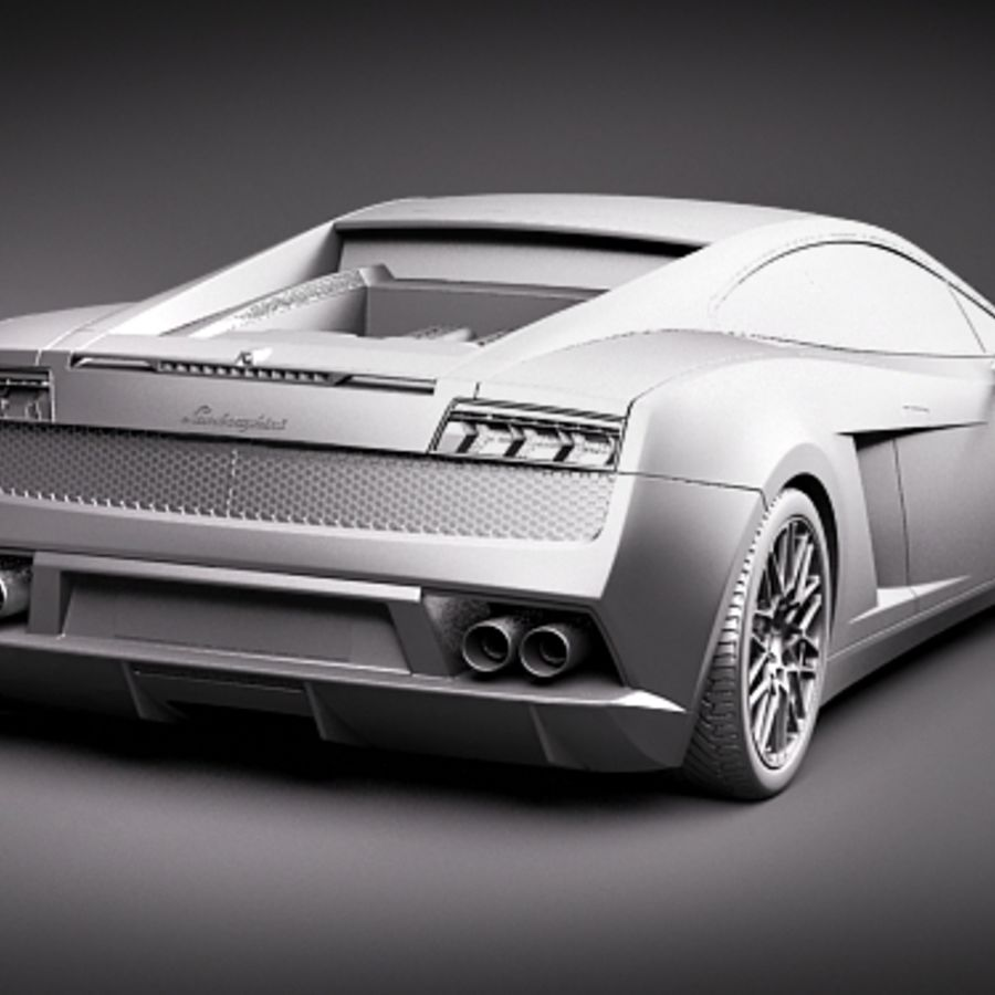Lamborghini Gallardo LP560-4 royalty-free 3d model - Preview no. 10