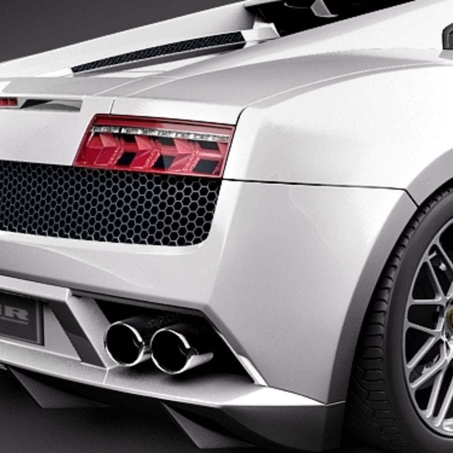 Lamborghini Gallardo LP560-4 royalty-free 3d model - Preview no. 4