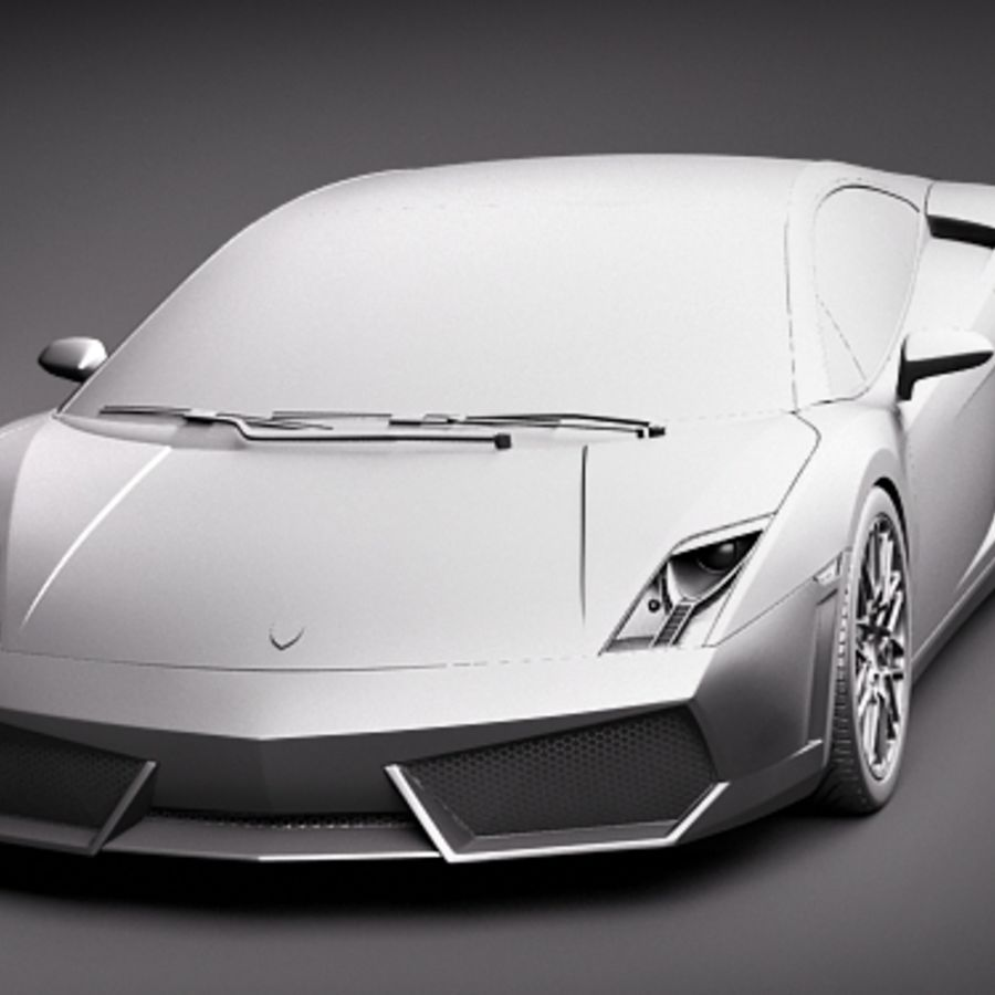 Lamborghini Gallardo LP560-4 royalty-free 3d model - Preview no. 14
