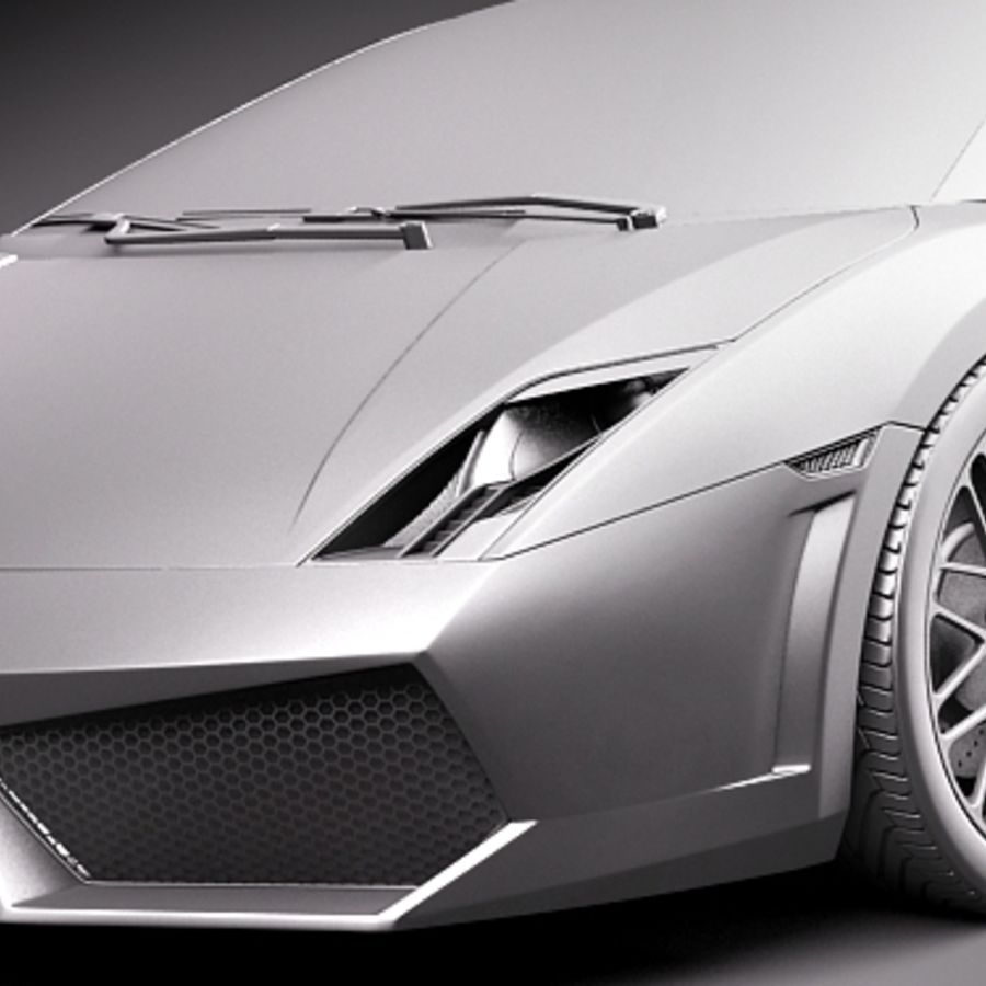 Lamborghini Gallardo LP560-4 royalty-free 3d model - Preview no. 12