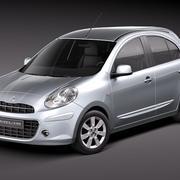 日产Micra 2011 3d model