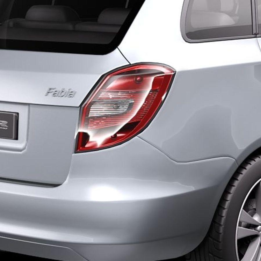 Skoda Fabia Combi 2011 royalty-free 3d model - Preview no. 4