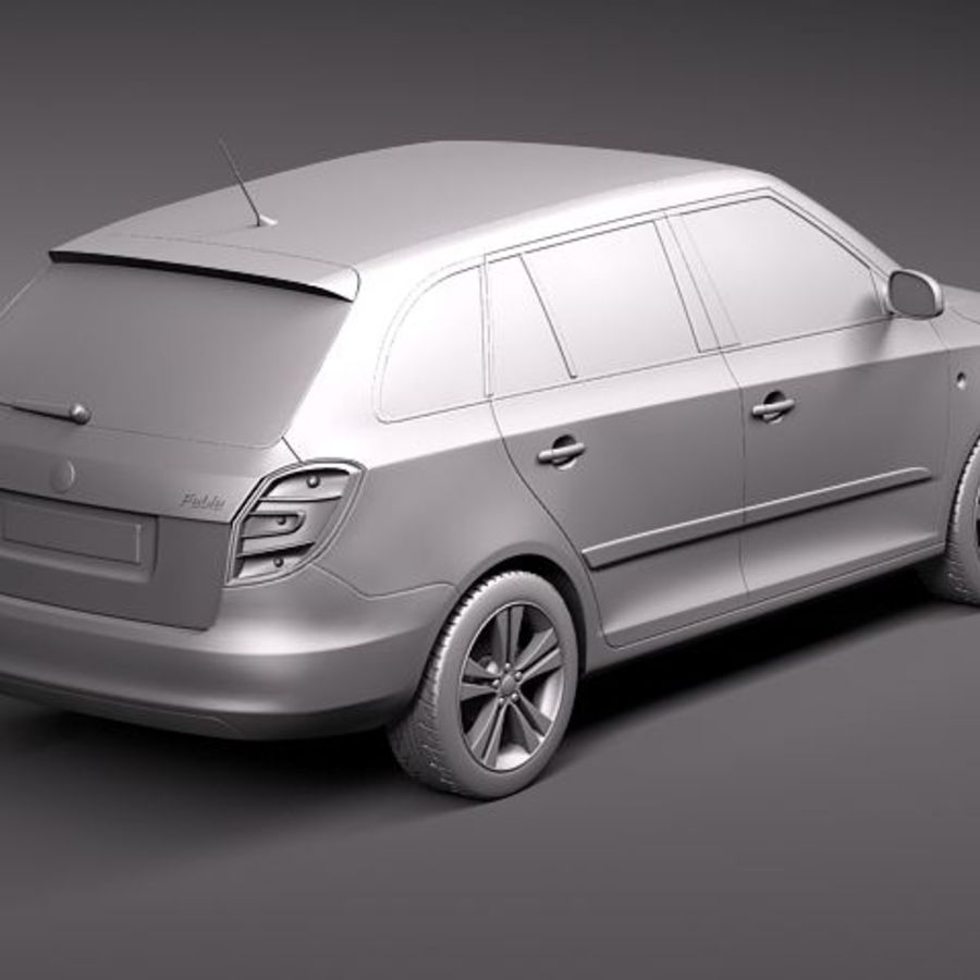 Skoda Fabia Combi 2011 royalty-free 3d model - Preview no. 9