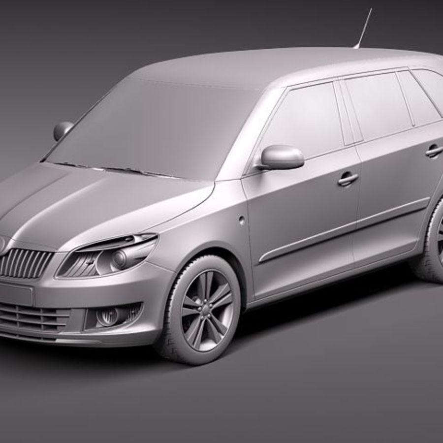 Skoda Fabia Combi 2011 royalty-free 3d model - Preview no. 12