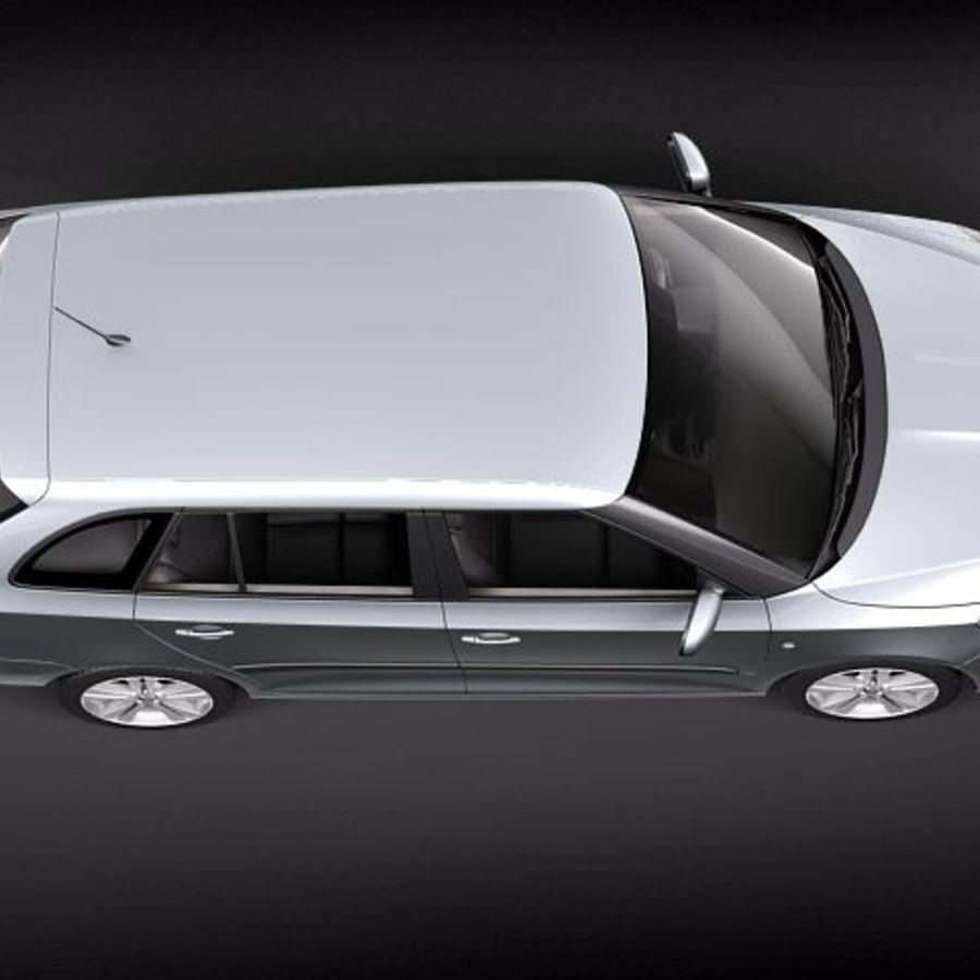 Skoda Fabia Combi 2011 royalty-free 3d model - Preview no. 8