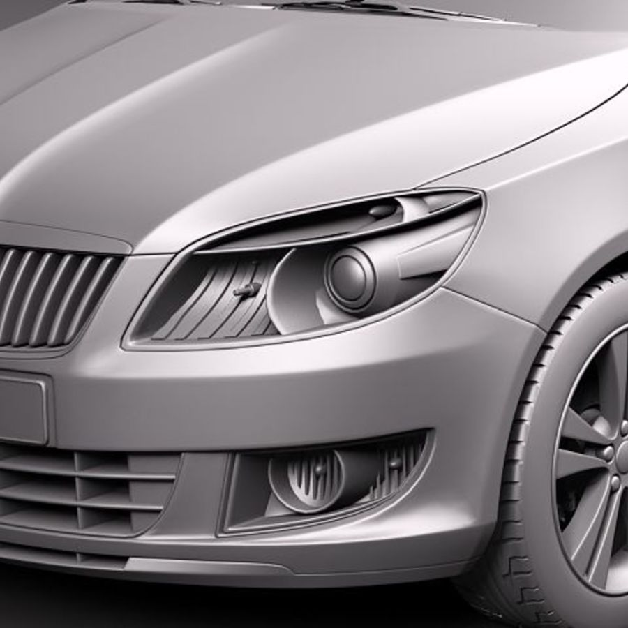 Skoda Fabia Combi 2011 royalty-free 3d model - Preview no. 11