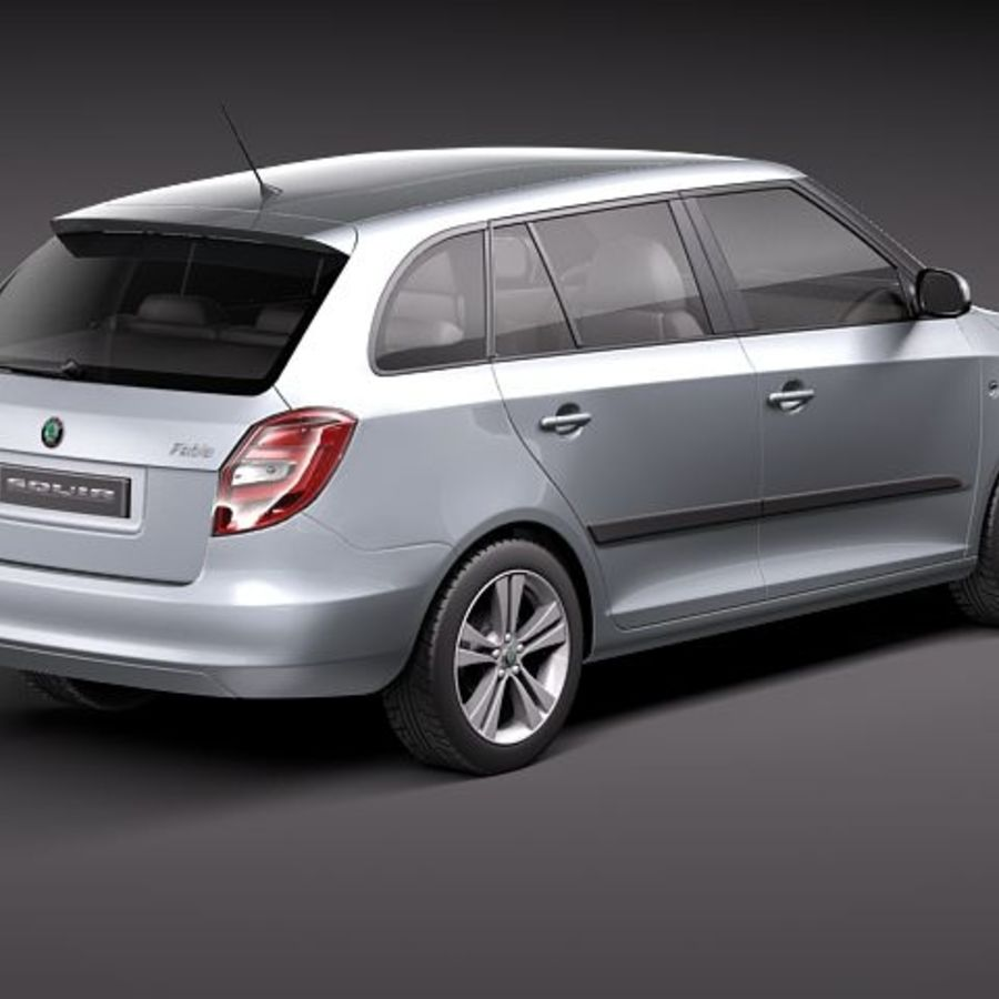 Skoda Fabia Combi 2011 royalty-free 3d model - Preview no. 5