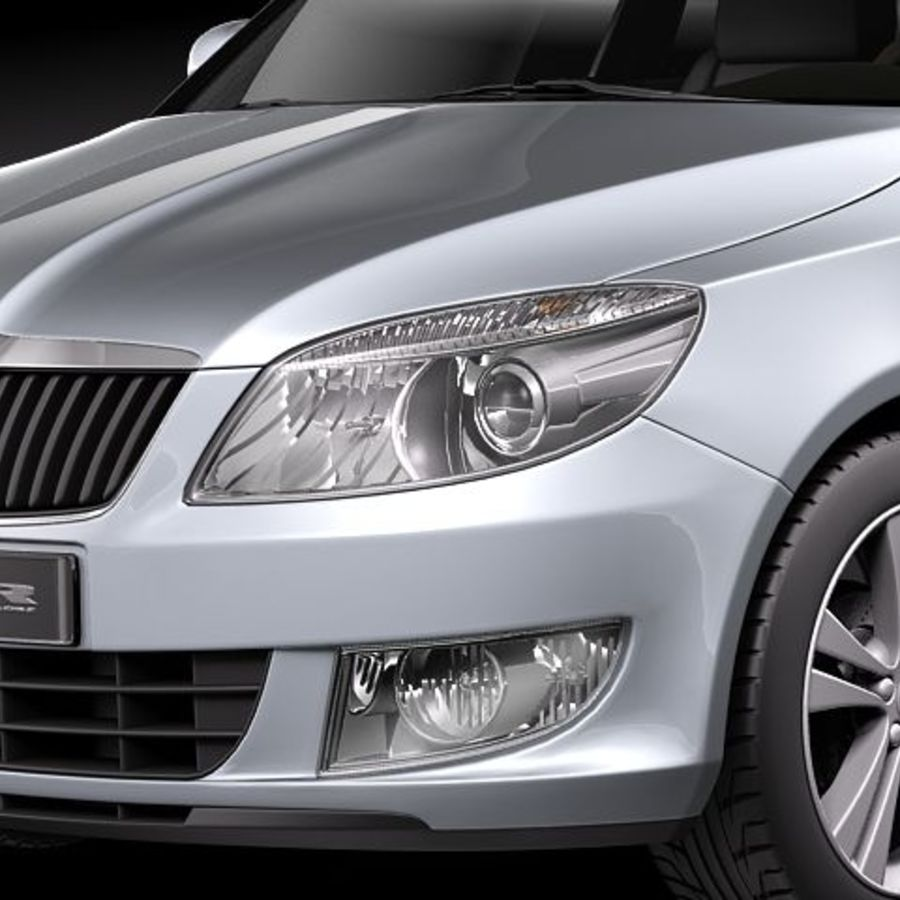 Skoda Fabia Combi 2011 royalty-free 3d model - Preview no. 3