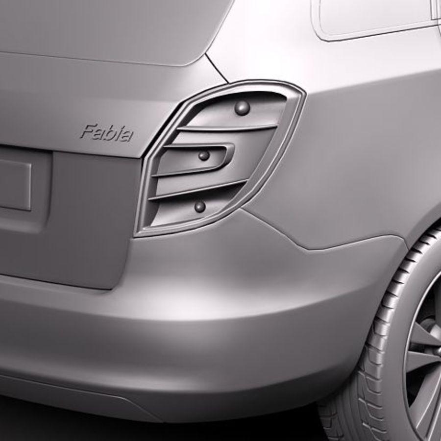 Skoda Fabia Combi 2011 royalty-free 3d model - Preview no. 10