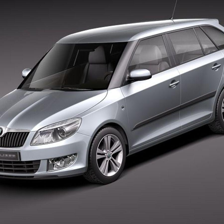 Skoda Fabia Combi 2011 royalty-free 3d model - Preview no. 1