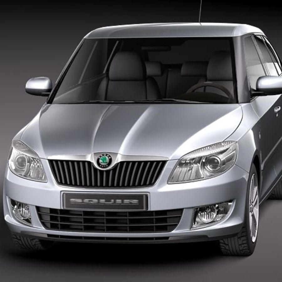 Skoda Fabia Combi 2011 royalty-free 3d model - Preview no. 2