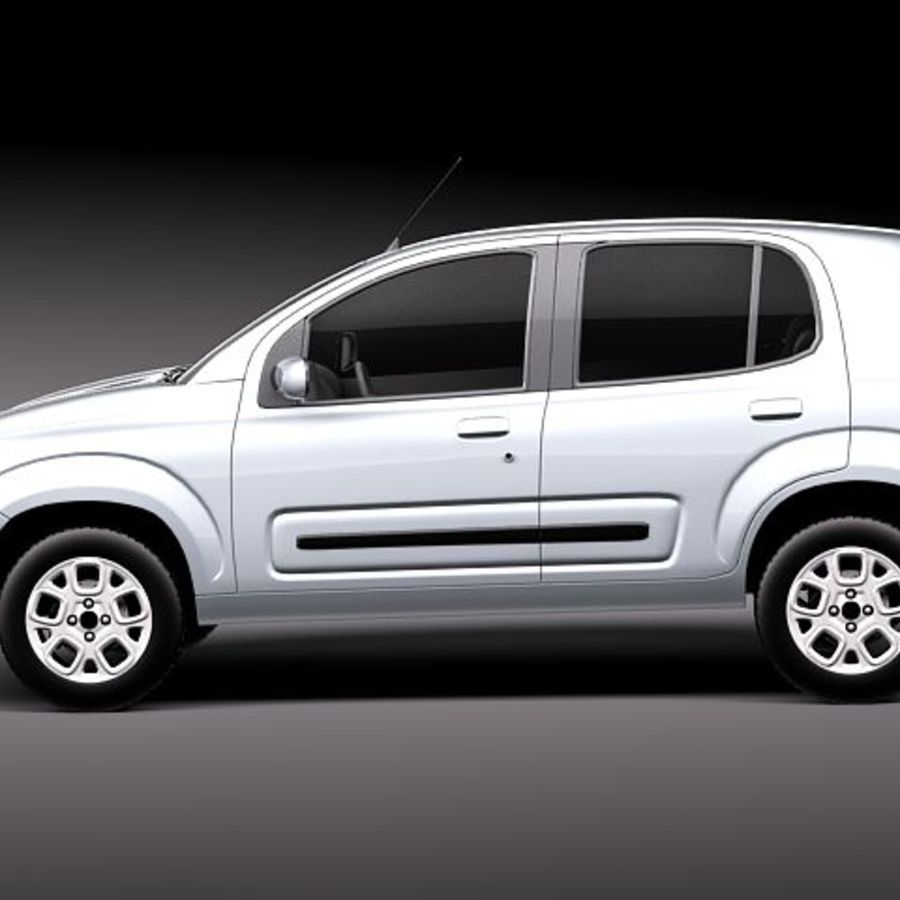 2011 년 Fiat Uno royalty-free 3d model - Preview no. 7