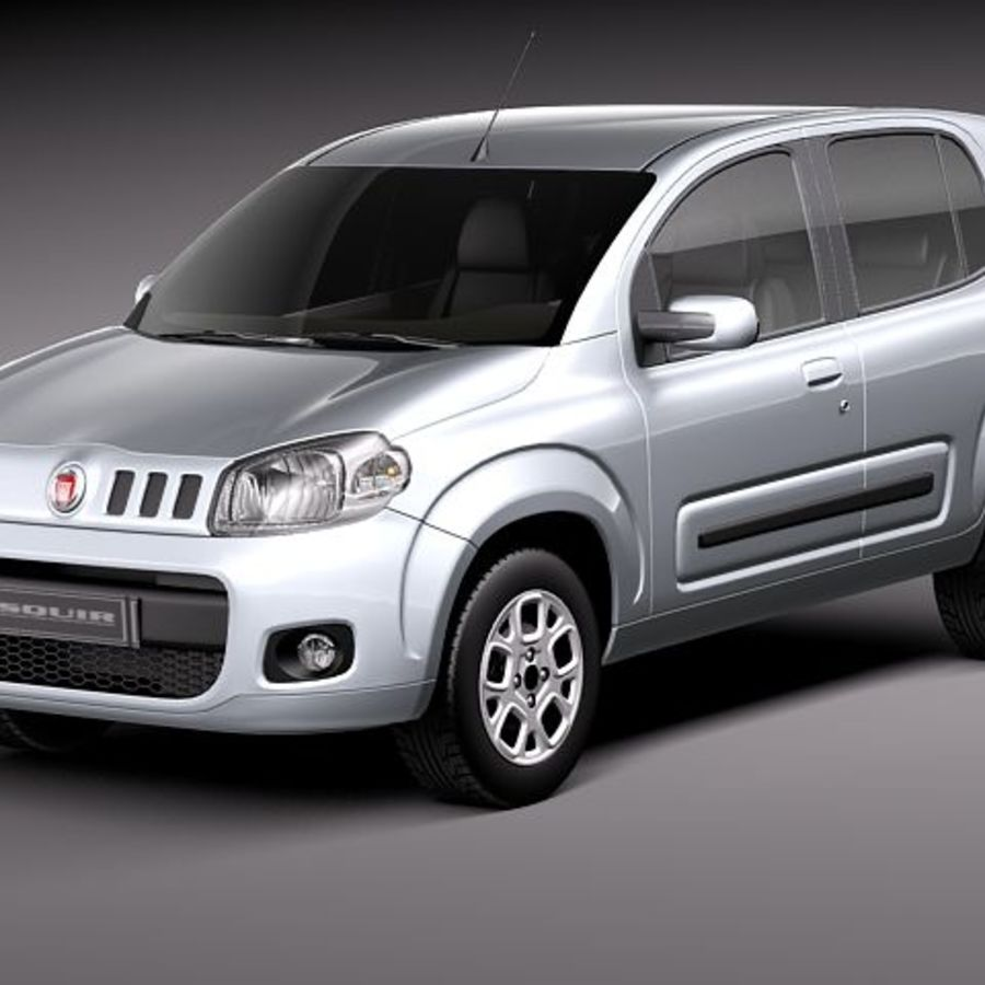 2011 년 Fiat Uno royalty-free 3d model - Preview no. 1