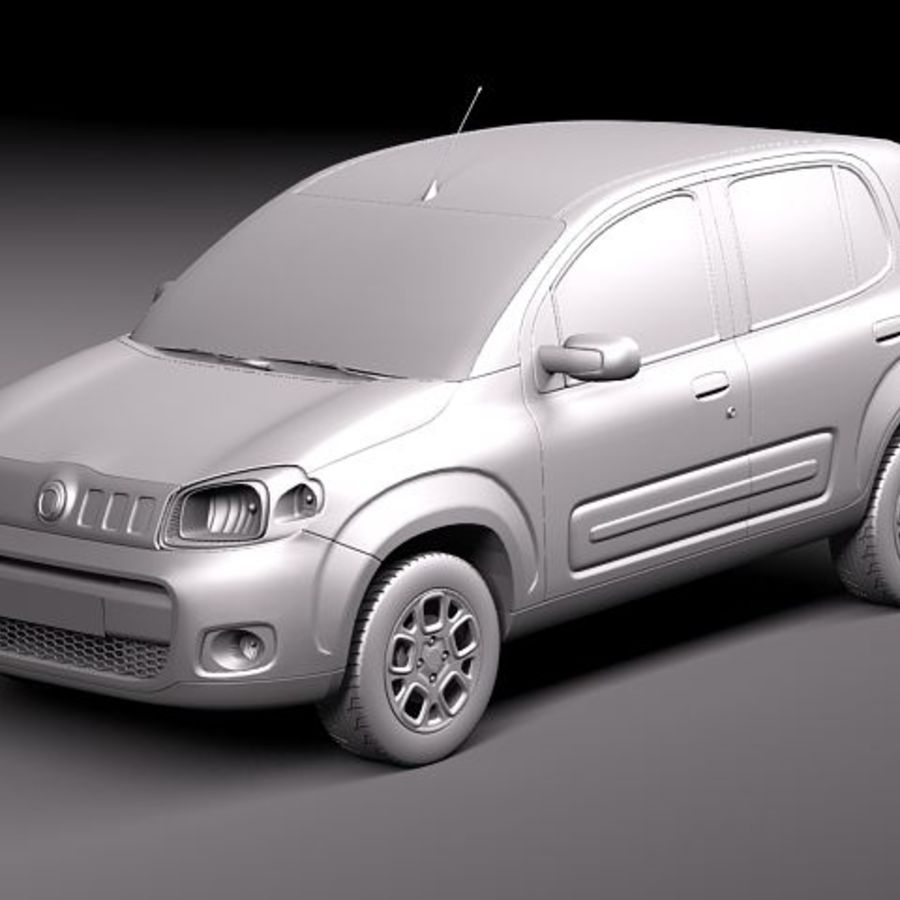 2011 년 Fiat Uno royalty-free 3d model - Preview no. 9