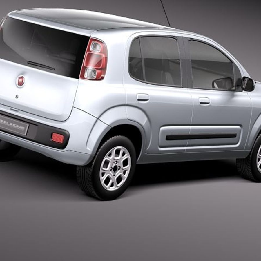 2011 년 Fiat Uno royalty-free 3d model - Preview no. 5