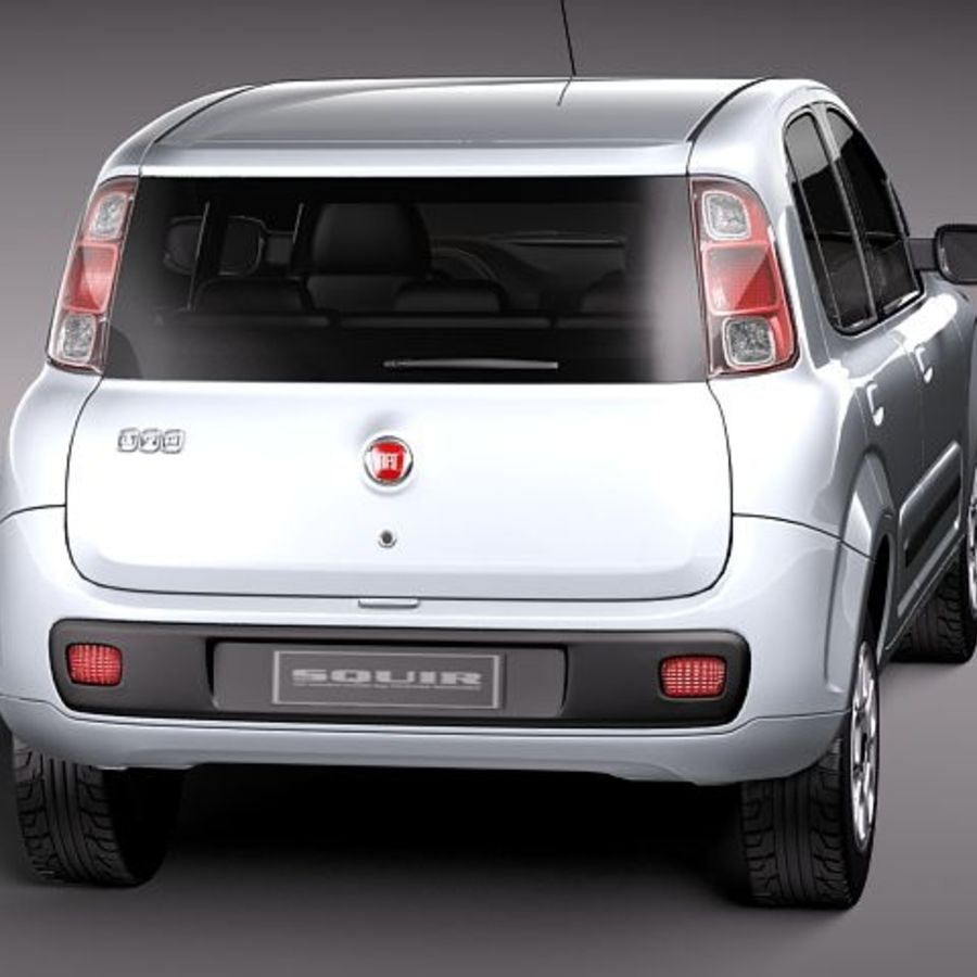 2011 년 Fiat Uno royalty-free 3d model - Preview no. 6