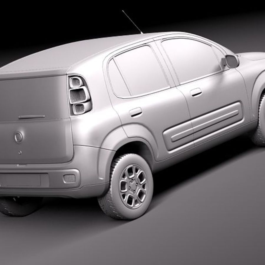 2011 년 Fiat Uno royalty-free 3d model - Preview no. 12