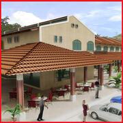Latin hacienda mini mall 3d model