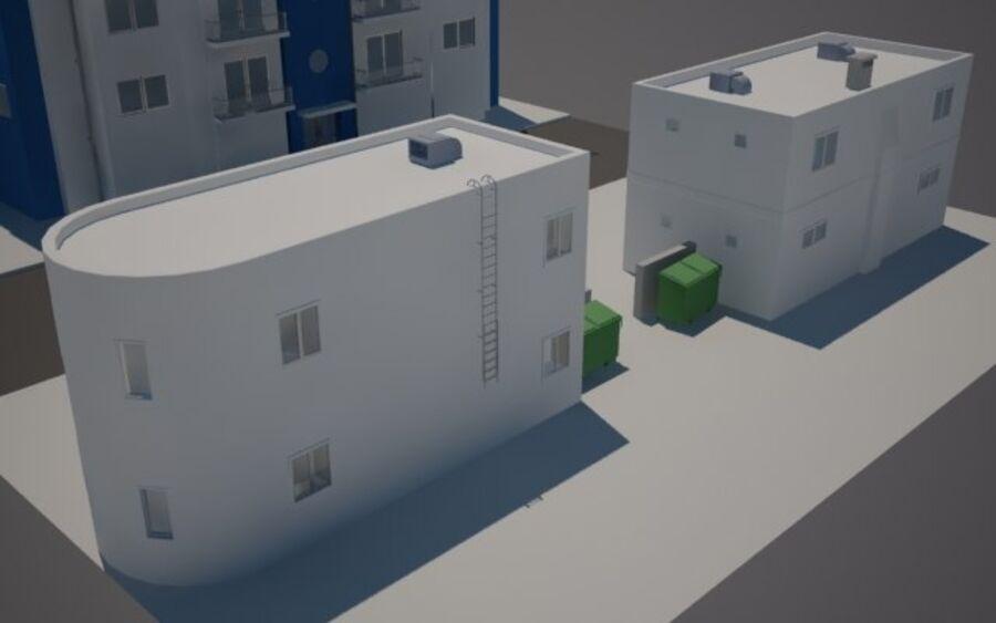 Городская улица N02 royalty-free 3d model - Preview no. 6