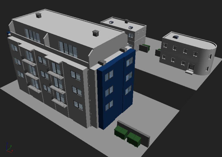 Городская улица N02 royalty-free 3d model - Preview no. 11