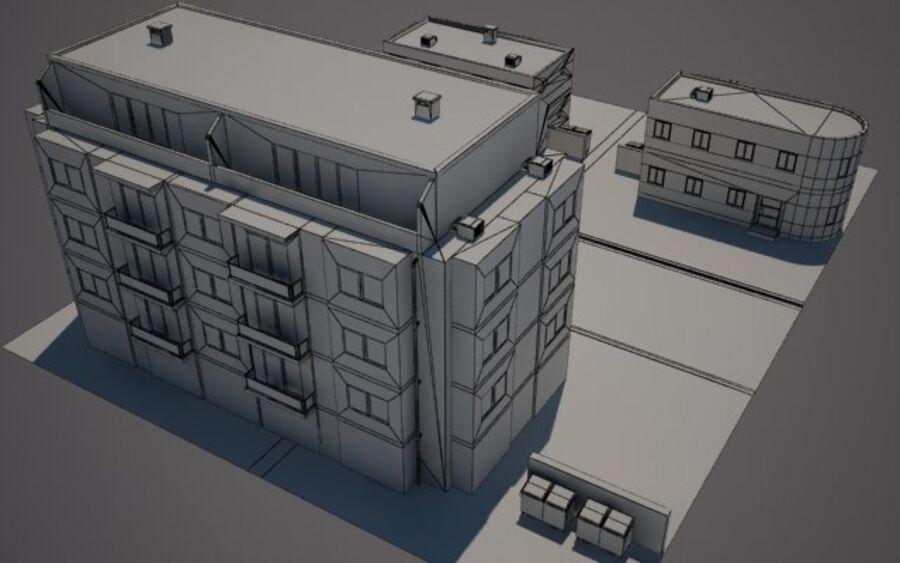 Городская улица N02 royalty-free 3d model - Preview no. 8