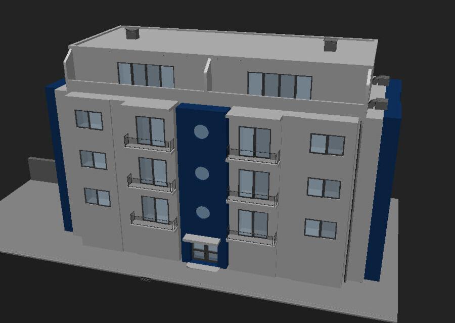 Городская улица N02 royalty-free 3d model - Preview no. 14
