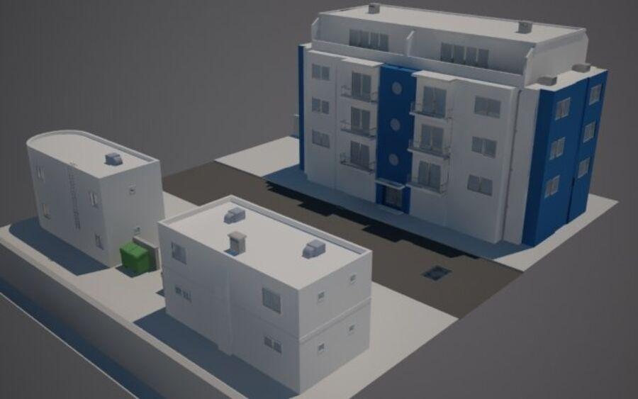 Городская улица N02 royalty-free 3d model - Preview no. 2