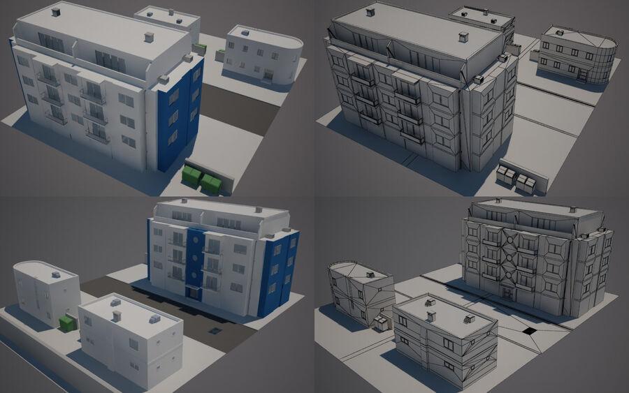 Городская улица N02 royalty-free 3d model - Preview no. 1