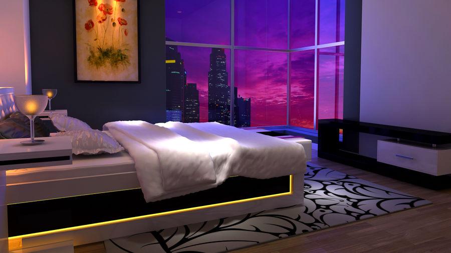 Schlafzimmer Bett Nacht Trittbrett Fernsehschrank 3d Modell 10 Max Free3d