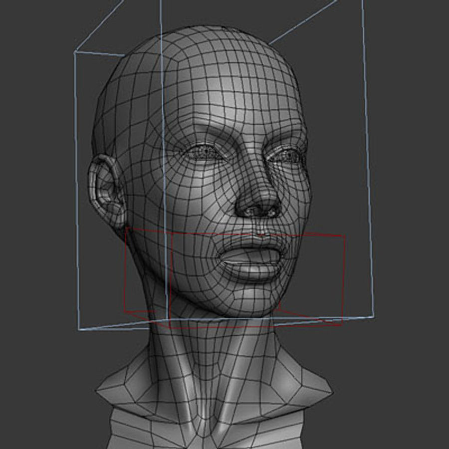 Head Female - Base Mesh royalty-free 3d model - Preview no. 4