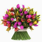 bouquet de tulipes fleurs plantes 3d model